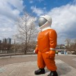 "Stock Photo: SAMARA, RUSSI- APRIL 18: Sculpture ""Cosmonaut"" next to mus"
