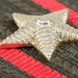 Star on the Shoulder strap of russian army officer close up — Stock Photo