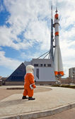 Ruská kosmická raketa dopravní — Stock fotografie