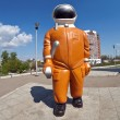 "Stock Photo: SAMARA, RUSSI- APRIL 25: Sculpture ""Cosmonaut"" next to mus"