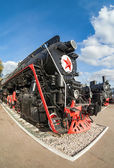 Russian freight locomotive 50-ies of the last century — Stock Photo
