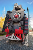 Soviet long-haul passenger locomotive 50-ies of the XX century — Stock Photo
