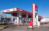 SAMARA, RUSSIA - OCTOBER 20: Lukoil gas station on October 20, 2 — Stock Photo
