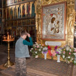 VALDAY, RUSSI- AUGUST 19: Interior of Assumption Cathedral — Foto de stock #34409005