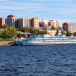 SAMARA, RUSSIA - SEPTEMBER 15: River cruise passenger ships at t — Stock Photo