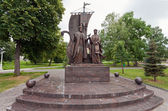 SAMARA, RUSSIA - JUNE 11: Monument to the russian orthodox saint — Stock Photo