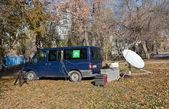 SAMARA, RUSSIA - NOVEMBER 7: Mobile television station NTV (Russ — Foto Stock