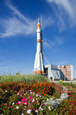 SAMARA, RUSSIA - SEPTEMBER 22: Real Soyuz spacecraft as monument — Stockfoto