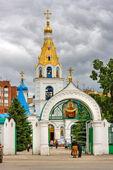 SAMARA, RUSSIA - MAY 29: Intercession Cathedral on May 29, 2010 — Stock Photo