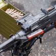 Stock Photo: General purpose machine gun close up