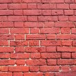 Weathered texture of stained old red brick wall background — Stock Photo