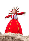 Shrovetide. Big doll for the burning — Stock Photo