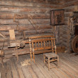 The interior of the museum of wooden architecture Vitoslavlitsy in Veliky Novgorod, Russia — Stock Photo