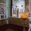 NOVGOROD, RUSSI- AUGUST 10, 2013 : Interior of St. Sophia — Stock Photo #39061635