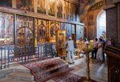 NOVGOROD, RUSSIA - AUGUST 10, 2013 : Interior of the St. Sophia — Stock Photo