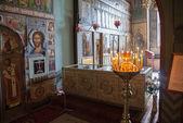 Novgorod, rússia - 10 de agosto, 2013: interior da santa sofia — Fotografia Stock
