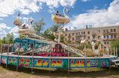 BOROVICHI, RUSSIA - AUGUST 17, 2013: Mobile amusement park rides — Stock Photo