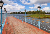 Pier of Valday Iversky Monastery, Russia — Stock Photo