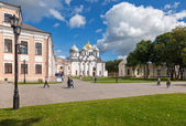 NOVGOROD, RUSSIA - AUGUST 10, 2013: Saint Sophia Cathedral at No — Stock Photo