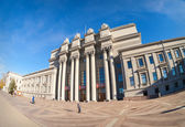 SAMARA, RUSSIA - OCTOBER 20: Academic opera and ballet theater a — Stock Photo