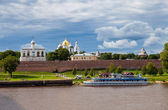 NOVGOROD, RUSSIA - AUGUST 10: Kremlin town fortress with St. Sop — Stock Photo