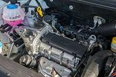 SAMARA, RUSSIA - APRIL 18, 2014: The new engine of the modern ca — Stock Photo