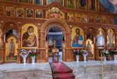 SAMARA, RUSSIA - APRIL 20, 2014: Interior Church of the Resurrec — Zdjęcie stockowe