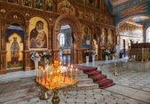 SAMARA, RUSSIA - APRIL 20, 2014: Interior Church of the Resurrec — Stock Photo