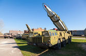 TOGLIATTI, RUSSIA - MAY 2, 2013: Launcher with rocket missile co — Stock Photo