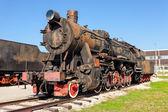 TOGLIATTI, RUSSIA - MAY 2, 2013: Old steam locomotive at the dep — Stock Photo