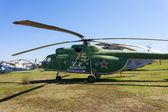 TOGLIATTI, RUSSIA - MAY 2, 2013: Combat transport helicopter on  — Stock Photo