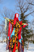 RUSSIA, SAMARA - March 2, 2014: Shrovetide in Russia. Big doll f — Stock Photo