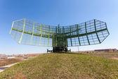 Military russian radar station against blue sky — Stock Photo