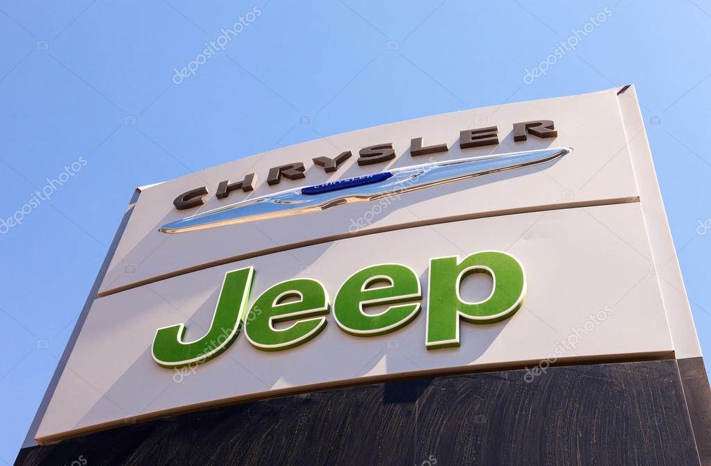 chrysler signe de concessionnaire automobile jeep photo ditoriale 47170313. Black Bedroom Furniture Sets. Home Design Ideas