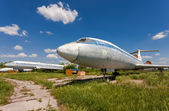SAMARA, RUSSIA - MAY 25, 2014: Old russian aircraft Tu-154 at an — Foto Stock