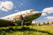 SAMARA, RUSSIA - MAY 25, 2014: Old russian turboprop aircraft at — Foto Stock