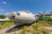 SAMARA, RUSSIA - MAY 25, 2014: Old russian aircraft An-12 at an  — Foto Stock