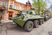 SAMARA, RUSSIA - MAY 6, 2014: 2S23 Nona-SVK 120mm self-propelled — Stock Photo