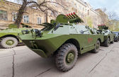 SAMARA, RUSSIA - MAY 6, 2014: Antitank missile system Kornet bas — Stock Photo