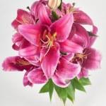 Lily in vase — Stock Photo