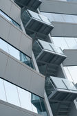 Office building with balcony — Stock Photo