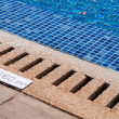 Stock Photo: Pool and depth indicator