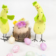 Easter chicken and cock — Stock Photo #22353113