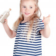 Little cute girl in studio — Stock Photo #31086409