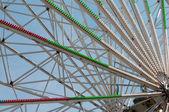 Closeup construction d'un amusement — Photo