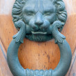 Vintage knocker door of metal lion — Stock Photo
