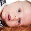 Newborn baby, close-up portrait — Stock Photo