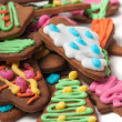 Lot of shot gingerbreads — Stock Photo
