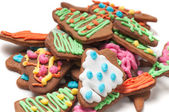 Closeup shot of gingerbreads — Stock Photo
