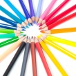 Group of multicolored pencils — Stock Photo #39481627